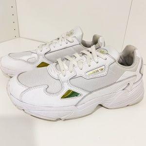 Adidas Originals Falcon W Sneakers White w/ Gold